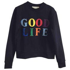 31db105f05c blue Plain Cotton Etre Cecile Knitwear - Vestiaire Collective
