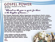 Gospel Power - Solemnity of All Saints