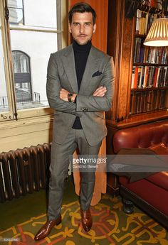 Johannes Huebl attends the Pringle Of Scotland Menswear Autumn/Winter 2016 show during London Collections Men on January 10, 2016 in London, England.