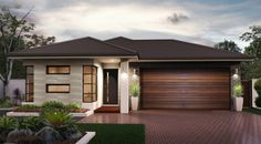 The Callington - the Metro Collection. Simple in its design, the Callington still ticks a lot of boxes. Complete with a large master bedroom, 3 additional bedrooms and large bathrooms. Bungalow House Design, House Front Design, Modern Bungalow, Small House Design, Modern Exterior House Designs, Modern House Plans, New Home Designs, Modern House Design, Facade House