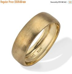 Cyber Monday SALE Men's Wedding Band Classic Brushed by netawolpe
