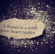 Don't let your heart be filled with sorrow, for all you know tomorrow, the dream that you wish will come true <3