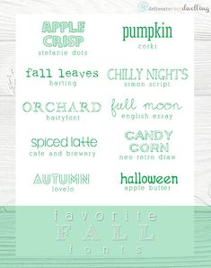 My Favorite Fall fonts, Delineate Your Dwelling #autumn  ~~ {10 free fonts w/ easy download links} ~~