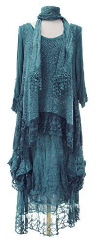 Ladies Womens Italian Lagenlook Quirky Layering LONG 3 Piece Sequin Lace Mohair Knit Long Sleeves Scarf Tunic Top Dress One Size Plus (UK 10-20) (One Size Plus, Teal) Generic http://www.amazon.co.uk/dp/B00OHVKUY4/ref=cm_sw_r_pi_dp_plPQub164NF29