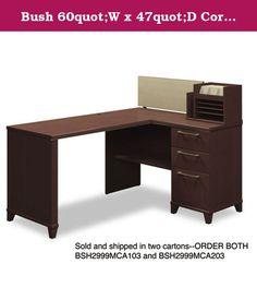 Bush 60quot;W x 47quot;D Corner Desk Solution (Box 1 of 2) Enterprise: Mocha Cherry. Bush 60quot;W x 47quot;D Corner Desk Solution (Box 1 of 2) Enterprise: Mocha Cherry.