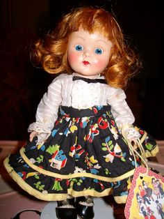 1952 Vogue Ginny Doll- Square Dancer Series- #50 Kitty