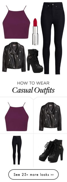 """Casual"" by cait-dancer on Polyvore featuring Topshop, Rodarte, H&M and Givenchy"