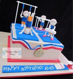 Gymnastics Themed Cake - Cake by Denise