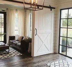 Joanna Gaines, 20 Sliding Barn Door Ideas via A Blissful Nest