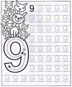 New System-Suitable Numbers Line Study - Preschool Children Akctivitiys Preschool Writing, Numbers Preschool, Learning Numbers, Preschool Curriculum, Math Numbers, Preschool Printables, Preschool Lessons, Kindergarten Worksheets, Worksheets For Kids