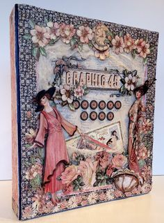 Graphic 45 Swatch Book using A Ladies diary by Anne Rostad
