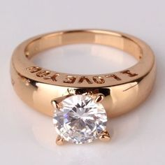 18k Gold Cz Diamond Ring