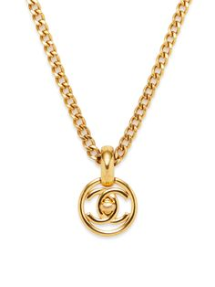 Turnlock Cutout CC Disc Necklace