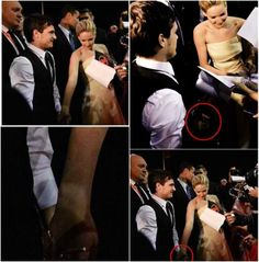Saw this pic though i think they did holding hands but maybe for a brief moment i mean they were signed autographs and meet half way so i guess josh is just trying to be gentleman by assisting jlaw to go to his right side in front of him knowing she is wearing a long gown and jlaw accepted his help by holding his hand, oh well i just love the fact that they did that and josh offer his hand and jlaw accept it i hope to see a clear pic of it and how long and what happen next, what do u think??