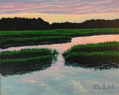 Stono Sunset | Elise Nuckols Art | Charleston, SC