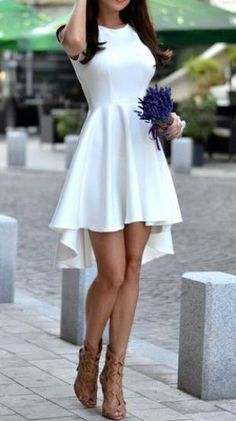 Waterfall dresses are such cute white dresses!