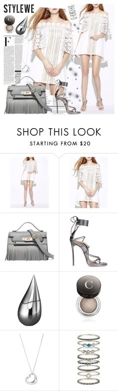 """STYLEWE 10"" by gaby-mil ❤ liked on Polyvore featuring Nicki Minaj, Dsquared2, La Prairie, Chantecaille, Tiffany & Co., Accessorize, dress, bag and stylewe"