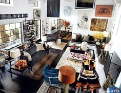 """""""Mario Testino Royale: A Look Inside the Photographer's L. Home"""", Vogue (US) March Photography by Mario Testino Mario Testino, Natalia Vodianova, Interior Exterior, Interior Design, Room Interior, Church Interior, Interior Livingroom, Estilo Interior, Eclectic Living Room"""