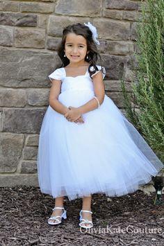 Flower Girl Dress White. $134.95, via Etsy. White Flower Girl Dresses, Flower Girls, White Dress, Girls Communion Dresses, September 21, Groom, Wedding Ideas, Bride, Trending Outfits