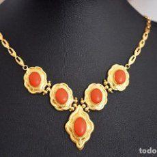 1eb883d5741e C1940 - antiguo collar pendentif frances en oro amarillo de 18 ktes. -  sellos y punzon- peso 13 grs