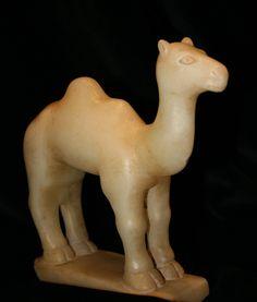 Sabean Alabaster Camel - (LSO) Origin: Yemen Circa: 900 BC to 300 BC Dimensions: high x wide Collection: Sabean Medium: Alabaster Condition: Very Fine Moorish Science, Camelus, Sculptures, Lion Sculpture, Ancient Near East, Llama Alpaca, Minoan, Roman Empire, Ancient History