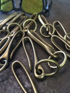 Solid Brass Key Loop Belt Hook  Made in USA by StandardPattern, $20.00