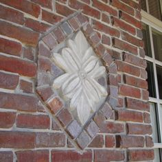 One of several architectural elements that I poured from mortar in molds that I had on site.  The bricklayer incorporated them into the brickwork...a true craftsman.