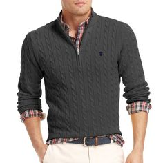 jcpenney - IZOD® Quarter-Zip Cable-Knit Sweater - jcpenney
