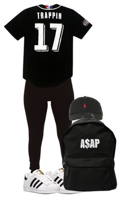 """""""Untitled #147"""" by simoneswagg ❤ liked on Polyvore featuring Rampage, adidas, Polo Ralph Lauren and ASAP"""