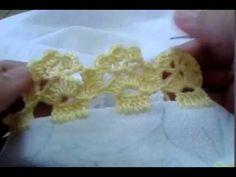 Barrado de crochê carreira única #16 - YouTube