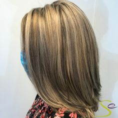 Our stylist Kim blended both highlights and lowlights to give Karri some added dimension while maintaining a natural look. Aveda Spa, Aveda Salon, Aveda Hair Color, Salon Services, Spa Gifts, Natural Looks, Manicure And Pedicure, Highlights, Facial