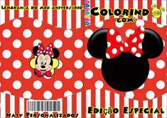 Kit de Minnie Roja para Descargar Gratis. Oh My Fiesta, Kit, Blogger Templates, Mickey Mouse, Disney Characters, Fictional Characters, Party, Paper Basket, Lollipops