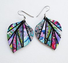 Different Types Of Earrings To Wear Fabric Earrings, Paper Earrings, Fabric Beads, Paper Jewelry, Paper Beads, Polymer Clay Earrings, Leaf Earrings, Diy Earrings, Earrings Handmade