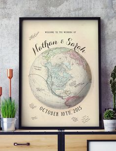 World map wedding guest book you mean the world to us 20x30 globe guest book alternative travel wedding guest book map unique guest book idea wedding guest sign in guest book map gumiabroncs Image collections