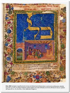 Beautifully illuminated Hebrew manuscript of the Mishneh Torah of Maimonides, dated between 1451 and 1475.(Biblioteca Apostolica Vaticana)