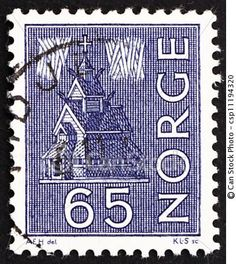 Norway, Stave Church stamp, 1963