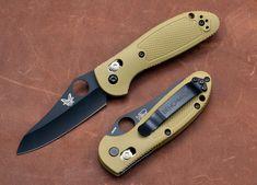 Benchmade Knives: 555HG Mini-Griptilian Axis Lock - Plain Edge