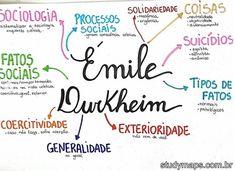 Mapa mental sobre Émile Durkheim. Lettering Tutorial, Emile Durkheim, Studying Girl, Mental Map, Study Board, Study Organization, School Notes, Studyblr, Study Notes