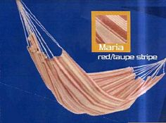 Pin it! :) Follow us :))  zPatioFurniture.com is your Patio Furniture Gallery ;) CLICK IMAGE TWICE for Pricing and Info :) SEE A LARGER SELECTION of  patio hammocks at http://zpatiofurniture.com/category/patio-furniture-categories/hammocks/ - home, patio, home decor, hammocks  - Joia JM55 Maria Brazilian Spreaderless Hammock – Red/Taupe Stripe « zPatioFurniture.com