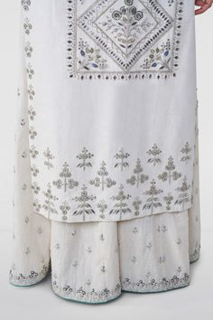 Designer Suits - Buy Ginevra Suit for Women Online - - Anita Dongre Kurti Embroidery Design, Hand Work Embroidery, Machine Embroidery Applique, Embroidery Fashion, Hand Embroidery Designs, Embroidery Patterns, Embroidery Dress, Embroidery Stitches, Designer Suits Online