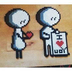 Love hama beads by ciciliemischelle