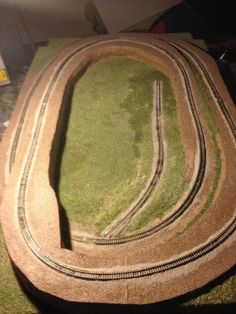N scale train layout