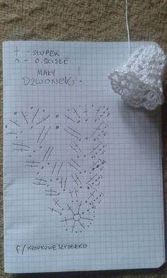 Pokračovanie skúšobných zvončekov amatérsky popis - Her Crochet Crochet Snowflake Pattern, Crochet Flower Tutorial, Crochet Motifs, Crochet Snowflakes, Crochet Diagram, Crochet Doilies, Crochet Flowers, Crochet Christmas Decorations, Crochet Christmas Ornaments