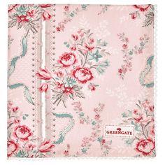 Servilleta de algodón con encaje Betty pale pink GreenGate