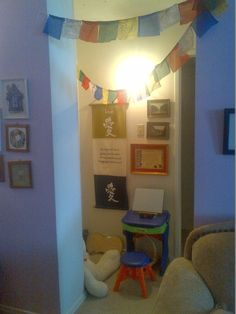 Establishing a Montessori peace corner in the home; using emotional intelligence tools and toys to build emotional intelligence (EQ) and positive discipline