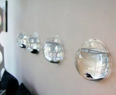 Would love to do this in our little man's sailboat room! Looks almost like portholes.(Maybe if I added a round wooden frame)
