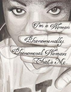 Phenomenal Woman by Maya Angelou Art Black Love, Black Girl Art, My Black Is Beautiful, Black Girl Magic, Art Girl, Black Pic, Natural Hair Art, Art Africain, Black Artwork