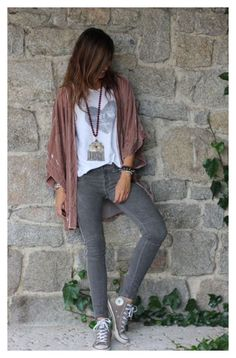 Woman Fashion Casual resides in the sky, in the pub, fashion areas of concern inspirations, the manner in which we live and work. Fall Outfits, Casual Outfits, Cute Outfits, Boho Outfits, Look Fashion, Fashion Outfits, Womens Fashion, Fashion News, Kimono Outfit