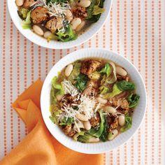 Pork, Bean, and Escarole Soup - Healthy Pork Tenderloin Recipes - Cooking Light