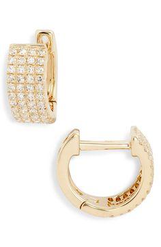 2aade44d3 Women's Ef Collection Jumbo Diamond Huggie Earrings. Pink Boots ...